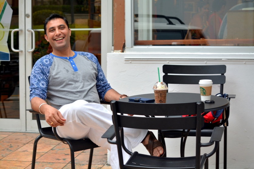 Enjoying our favorite coffees!