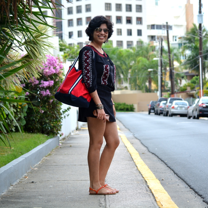 Puerto Rico Forever 21 dress Tommy Hilfiger tote