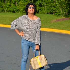 Zara Top, Levis Jeans, Coach Bag