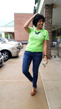 Neon T-Shirt & Jeans