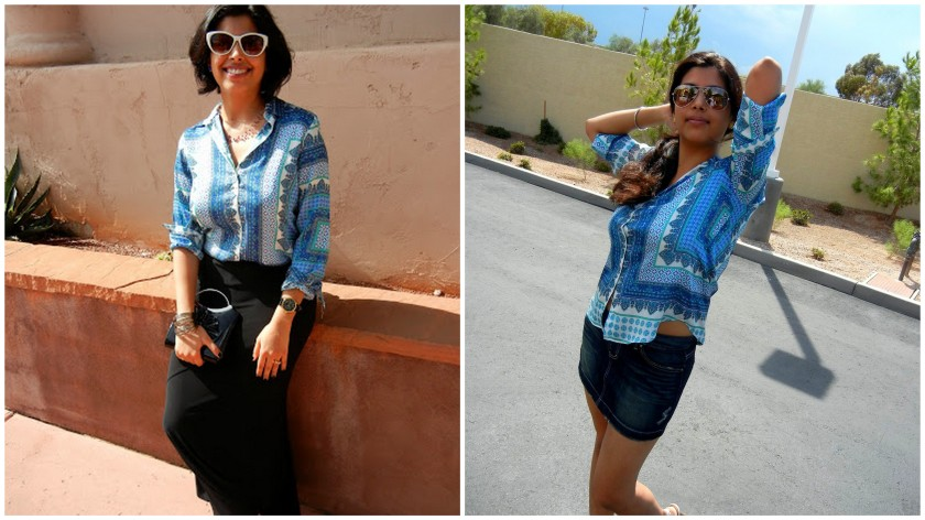 How to style a printed silk shirt