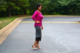 Fuchsia Top Lace Skirt